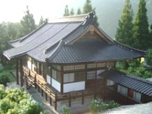 The main temple at Antaiji monastery in Japan.