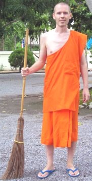 As a Buddhist monk in Thailand, you go on alms round every morning to collect food.
